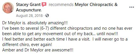 Chiropractic Des Moines IA Patient Testimonial at Meylor Chiropractic & Acupuncture